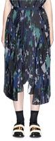 Sacai Digital camouflage print plissé pleated wrap skirt