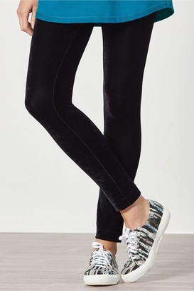 Soft Surroundings Stretch Velvet Knit Leggings