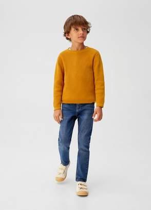 MANGO Knit cotton sweater mustard - 5 - Kids