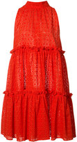 Lisa Marie Fernandez ruffled flared dress - women - Cotton - 3