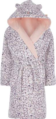 River Island Girls Purple animal print dressing gown