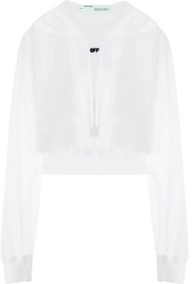 Off-White sheer hoodie