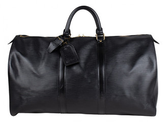 Louis Vuitton Keepall Black Leather Bags