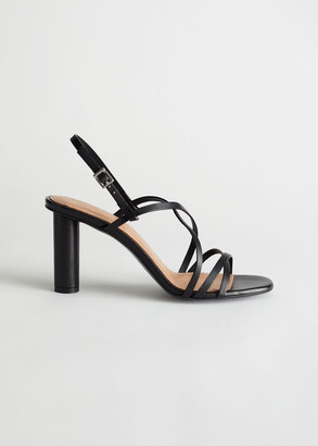 And other stories Cylinder Heel Strappy Leather Sandals
