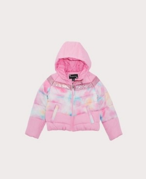 S. Rothschild Toddler Girls Tie Dye Colorblock Jacket