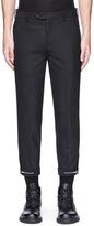 Neil Barrett Zip cuff cropped pants