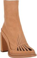 Ann Demeulemeester Cutout-Vamp Platform Ankle Boot
