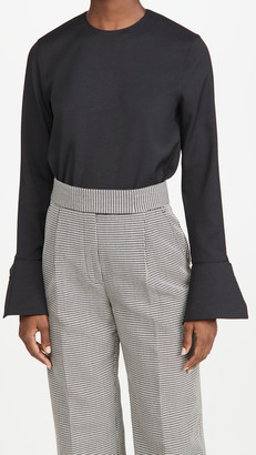 Tibi Long Sleeve Top with Cuff Detail