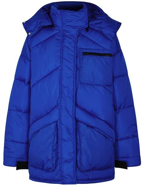 Givenchy Blue Oversized Quilted Coat