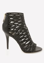 Bebe Mayra Jeweled Cage Sandals