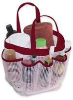 Bed Bath & Beyond Mesh Shower Tote in Pink/Chilli