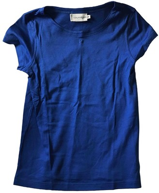 Courreges Blue Cotton Top for Women