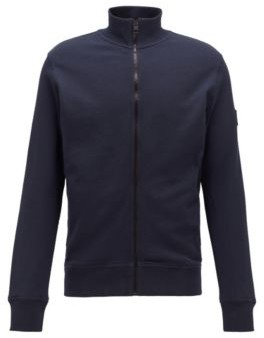 HUGO BOSS Relaxed-fit jersey jacket in African cotton
