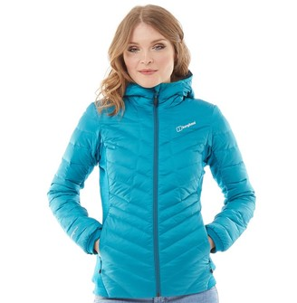 Berghaus Womens Tephra Stretch Reflect Down Jacket Turquoise/Turquoise