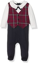 Mamas and Papas Baby Boys 0-24m Tartan Waistcoat All in One Footies,9-12 Months