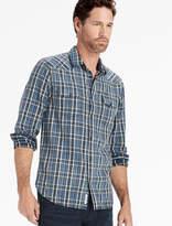 Lucky Brand Washed Indigo Santa Fe Western Shirt
