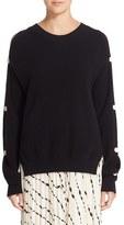 Helmut Lang Women's Button Sleeve Cotton & Cashmere Sweater