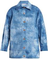 See by Chloe Tie-dye point-collar cotton-blend jacket