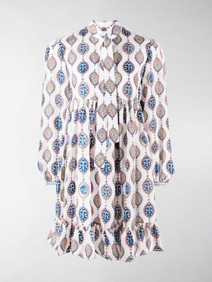 Chloé Boho-Print Silk Shirtdress