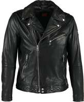 Boss Orange Jaggson Leather Jacket Black