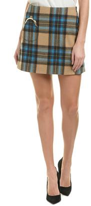 Rachel Antonoff Wool-Blend Mini Skirt