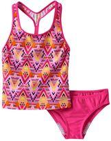 Speedo Girls 7-16 Diamond Geometric Tankini Swimsuit Set