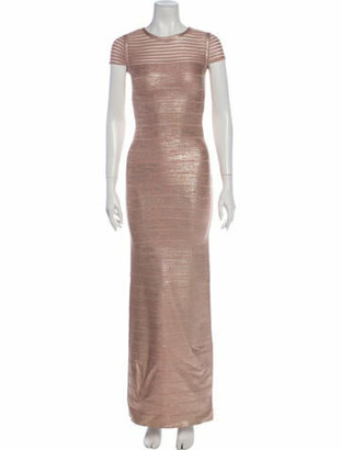 Herve Leger Bandage Evening Gown Champagne