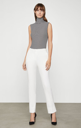 BCBGMAXAZRIA Striped Jersey Turtleneck Bodysuit