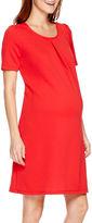Asstd National Brand Maternity Short-Sleeve Keyhole Back Dress - Plus