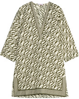 Eres Marina Printed Cotton Kaftan - Army green