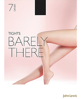 John Lewis 7 Denier Barely There Tights, Pack of 1