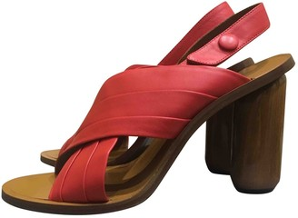 Mulberry Red Leather Sandals