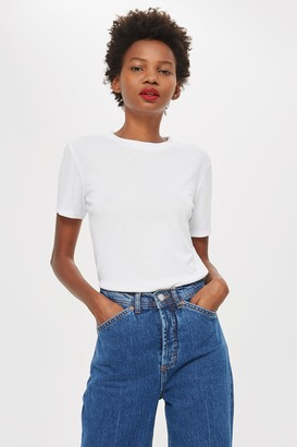 Topshop White Premium Clean T-Shirt