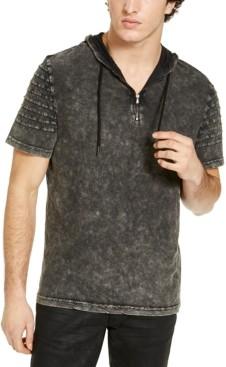 INC International Concepts Inc Men's Quarter-Zip Hooded T-Shirt, Created for Macy's