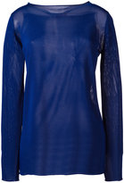 Cruciani sheer boat-neck sweater - women - viscose - 44