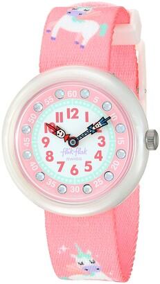 Flik Flak Girls Analogue Quartz Watch with Textile Strap ZFBNP121