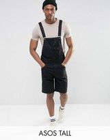 Asos TALL Short Overalls In Black