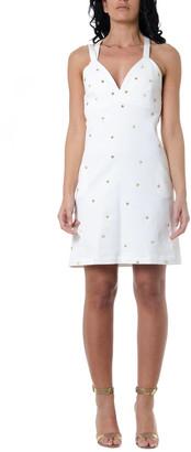 Frankie Morello White Denim Dress With Studs