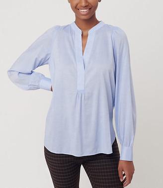 LOFT Split Neck Tunic Shirt