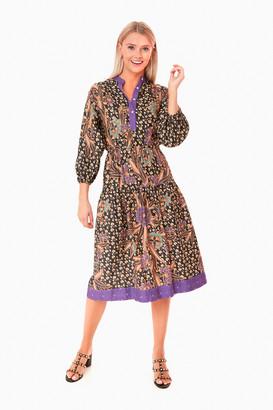 Warm Black Multi Floral Lisa Dress