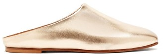 Emme Parsons Glider Metallic Leather Slide Slippers - Gold