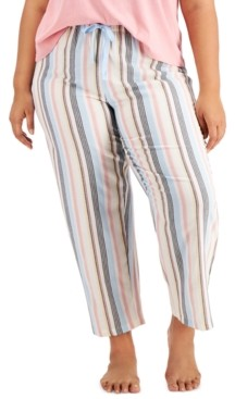 Jenni Plus Size Printed Pajama Pants, Created for Macy's
