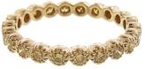 Sethi Couture Yellow Diamond Bezel Set Band Ring - Yellow Gold