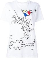 Iceberg flag print T-shirt