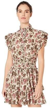 La Vie Rebecca Taylor Sleeveless Chouette Dress (Creme Brulee Combo) Women's Dress