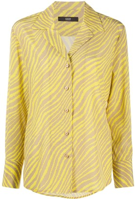 Steffen Schraut Zebra-Print Long-Sleeved Shirt