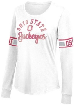 Top of the World Women's Ohio State Buckeyes Favorite Long Sleeve Foil T-Shirt