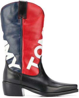 Tommy Jeans logo cowgirl boots