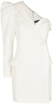 Lavish Alice White One-shoulder Blazer Dress