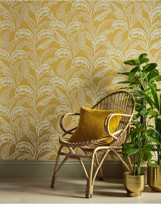 Accessorize Mozambique Wallpaper Ochre/Silver